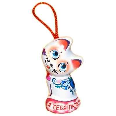 Колокольчик-котенок из керамики