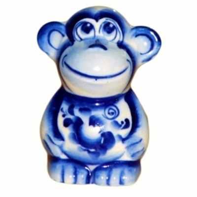 Гжельская обезьянка