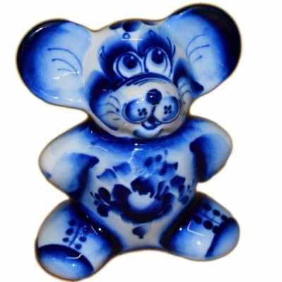 Сувенир мышь гжельский фарфор в Краснодаре
