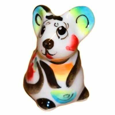 Цветная фигурка мышки сувенир 2020 года