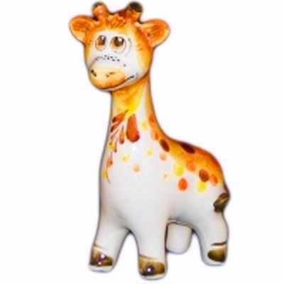 Жираф фарфоровый цветной