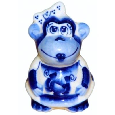 Фигурка обезьянка, гжель,