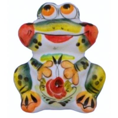 Фарфоровая цветная лягушка