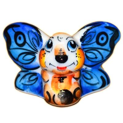 Цветная фарфоровая бабочка