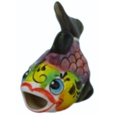 Цветная фарфоровая рыбка