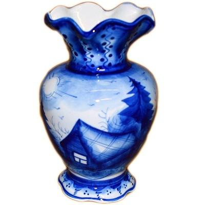 Гжельская фарфоровая ваза