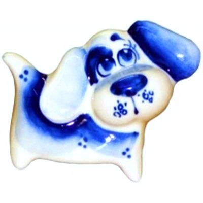 Фигурка собачки гжель, сувенир