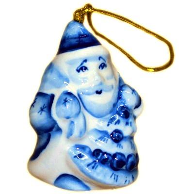 Дед Мороз елочная игрушка из фарфора