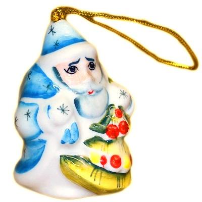 Фарфоровый Дед Мороз елочная игрушка