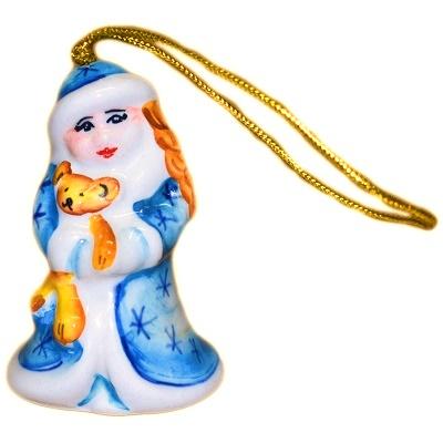Фарфоровая елочная игрушка Снегурочка