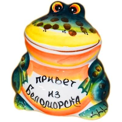 Лягушка цветная Привет из