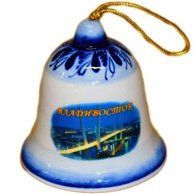 Колокольчик с символикой Владивостока