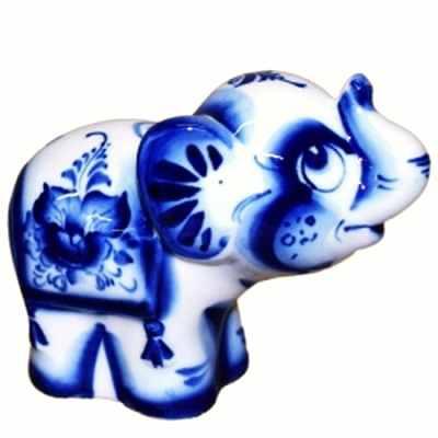 Статуэтка слон, гжель