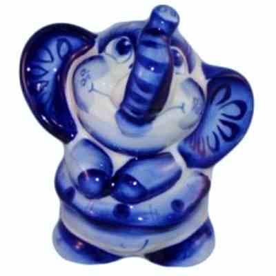 Сувенир слоник, гжель