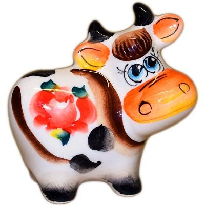 Цветная коровка из фарфора