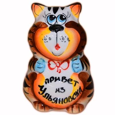 """Кот с надписью """"Привет из Ульяновска"""
