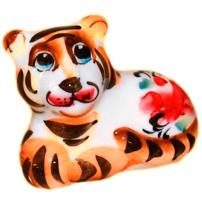 тигр фарфор с росписью