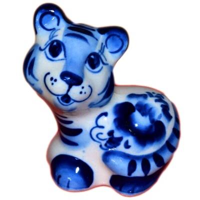 Сувенир тигр гжель