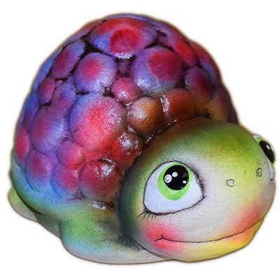 Большая черепаха из керамики
