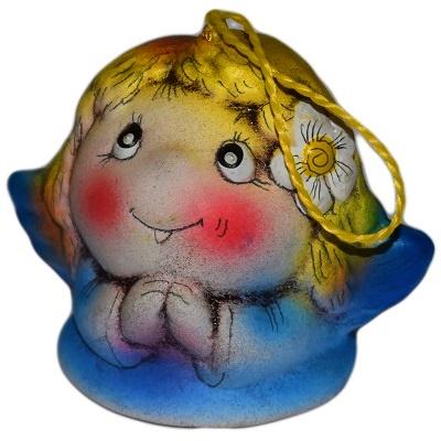 Колокольчик ангел керамика