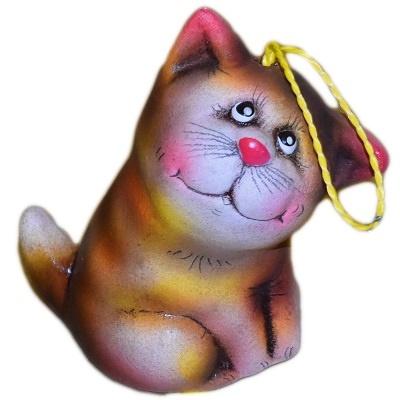 Кот колокольчик из керамики