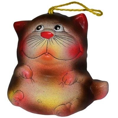 Колкольчик кот керамика