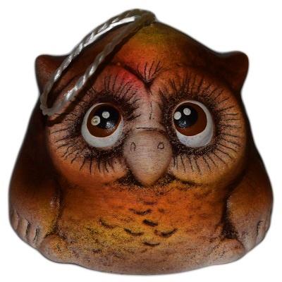 Колокольчик-сова керамика
