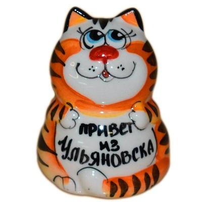 Фарфоровы котик с надписью