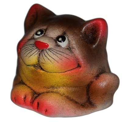 Котик из керамики