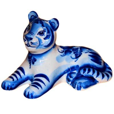 Статуэтка тигра гжель