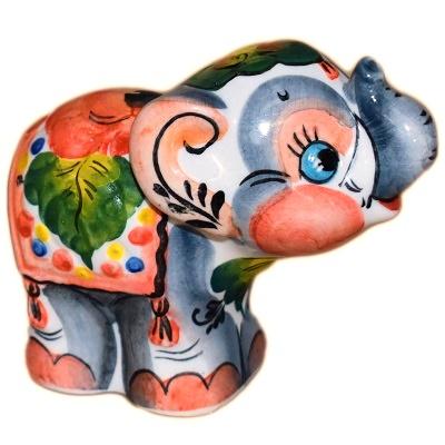 Цветной слон из фарфора