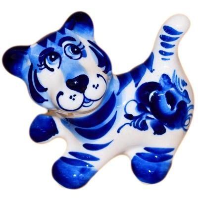 Сувенир 2022 тигр гжель