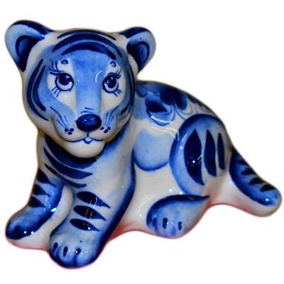 Большой гжельский тигр