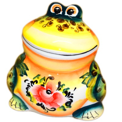 Цветная фарфоровая лягушка