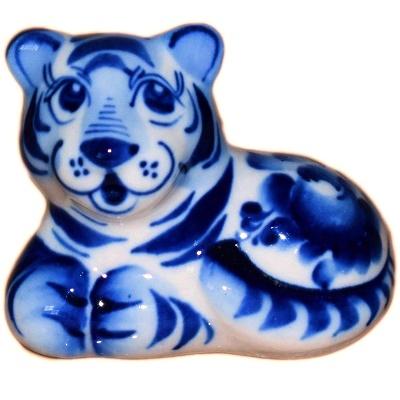 Фигурка гжельского тигра