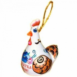 Курица-колокольчик из керамики, 6.5 см, арт. 1108