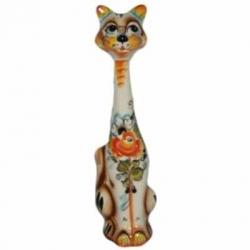 Кошка цветная 32 см, арт 1068