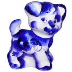Собака гжель 11.5 см, арт 2031