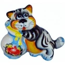 Кот цветной 11 см, арт 1046