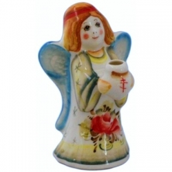 Ангел-подсвечник из фарфора 12 см. арт.5033