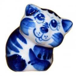 Фарфоровый гжельский котик