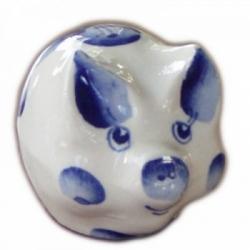 Фигурка свинья с росписью гжель