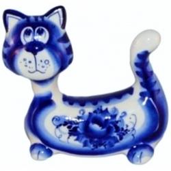 Кот гжель 13 см, арт 1053