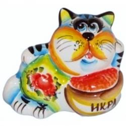 Кот цветной 13 см, арт 1052