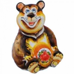 Медведь цветной фарфор, 12 см, арт 4094