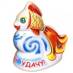 Колокольчик-золотая рыбка из керамики, 7 см, арт. 1111