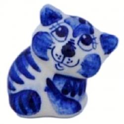 Кот гжель 4.5 см, арт 1088