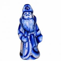 Сувенир Дед-Мороз гжель, 11 см, арт.2701