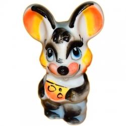 Цветной мышонок с сыром 9 см., арт. 2669