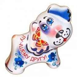 Собака из керамики, 7 см, арт. 1112